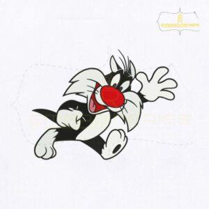 Looney Tunes Baby Sylvester Embroidery Design