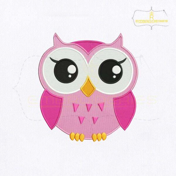 Big Eyes Baby Owl Embroidery Design