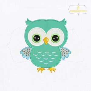 Adorable Baby Owl Machine Embroidery Design