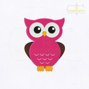 Buhos Giggle Owl Embroidery Design