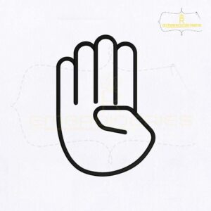 Deaf And Dumb Language Sign B Embroidery Design