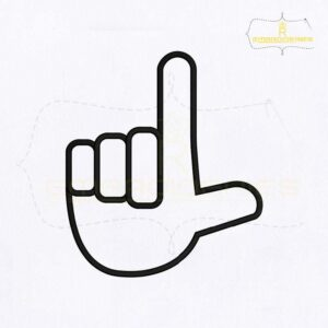 Alphabet Sign L Embroidery Design
