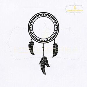 Dangling Dream Catcher Embroidery Design