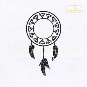 Creative Dream Catcher Embroidery Design
