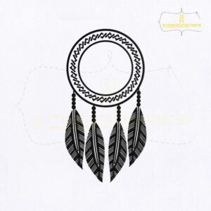 Hanging Dream Catcher Embroidery Design