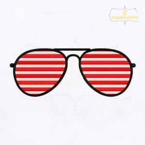 American Sunglasses Embroidery Design