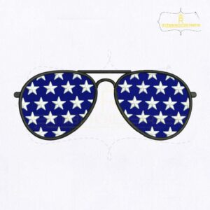 American Star Sunglasses Embroidery Design