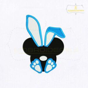 Bunny Ear Mickey Face Embroidery Design