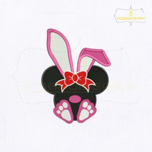 Bunny Ears Minnie Mouse Embroidery Design