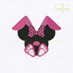 Bunny Ear Minnie Face Embroidery Design