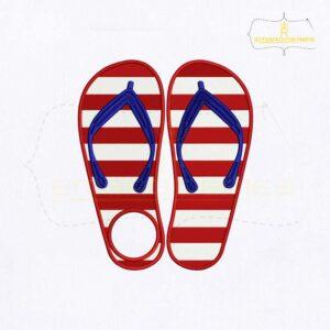American Slipper Monogram Embroidery Design