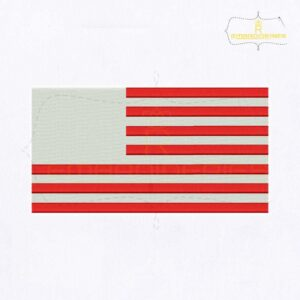 American Flag Machine Embroidery Design