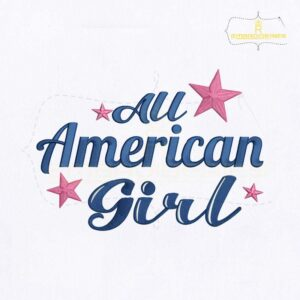 All American Girl Embroidery Design