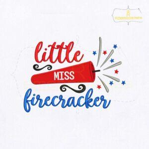 Little Miss Firecracker Embroidery Design
