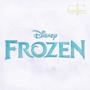Artistic Disney Frozen Logo Embroidery Design