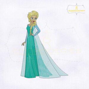 Frozen Princess Elsa Machine Embroidery Design