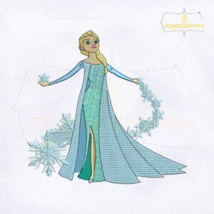 Disney Princess Elsa Digital Embroidery Design