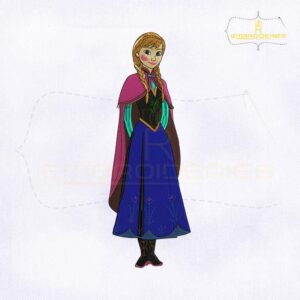 Disney Anna From Frozen Embroidery Design