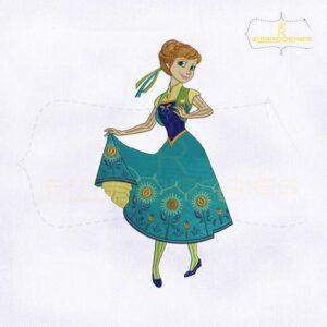 Disney Frozen Fever Anna Embroidery Design
