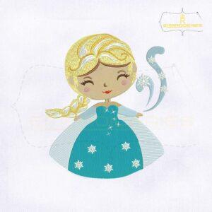 Frozen Baby Snow Princess Embroidery Design