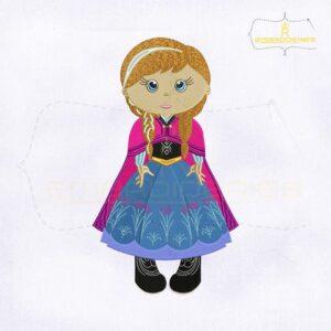 Frozen Minus Baby Anna Embroidery Design