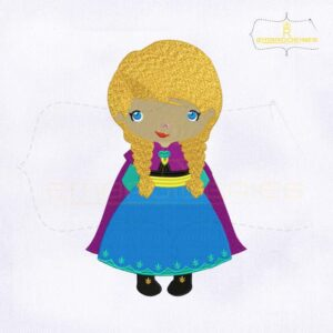 Frozen Cute Baby Princess Anna Embroidery Design