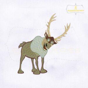 Disney Frozen Sven Machine Embroidery Design