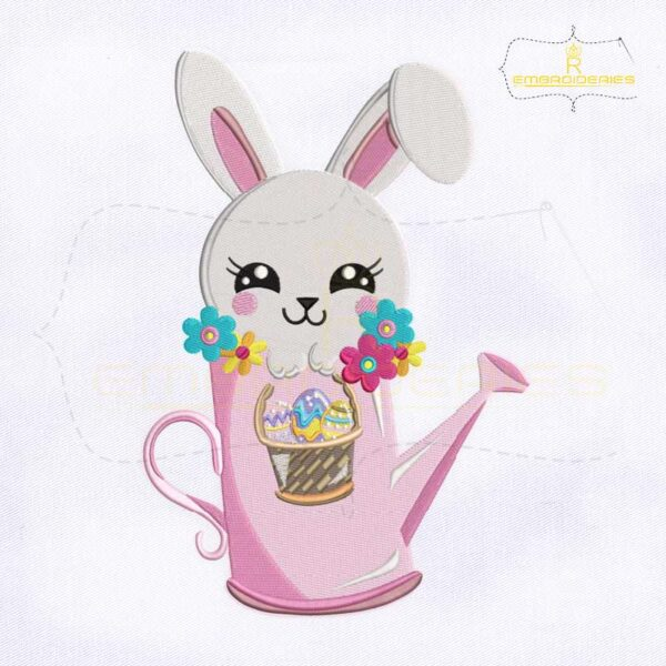 Adorable Easter Rabbit Embroidery Design