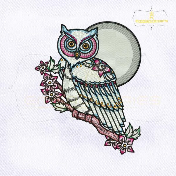 Strix Occidentalis Owl Machine Embroidery Design