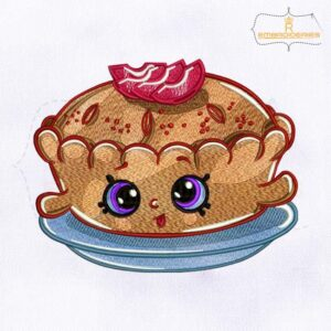 Shopkins Apple Pie Alice Embroidery Design