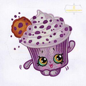 Shopkins Creamy Cookie Cupcake Embroidery Design