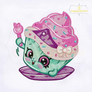 Shopkins Cupcake Princess Embroidery Design