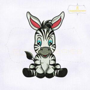 Cute Baby Zebra Digital Embroidery Design