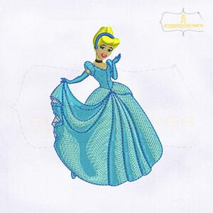 Beautiful And Lovely Princess Cinderella Embroidery Design