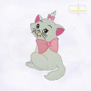 Pretty Disney Cat Machine Embroidery Design