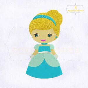 Baby Snow Princess Embroidery Design