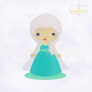 Beautiful Baby Snow Princess Embroidery Design