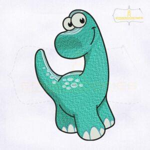 Beautiful Baby Dinosaur Embroidery Design