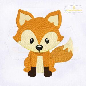 Woodland Animals Fox Embroidery Design