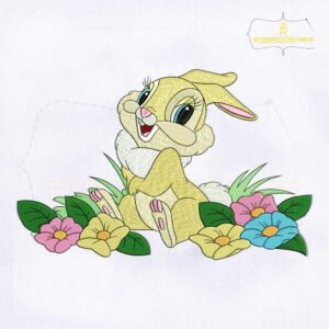 Bambi Miss Bunny Embroidery Design