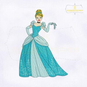 Beautiful Disney Princess Cinderella Embroidery Design