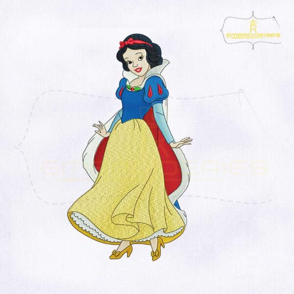 Disney Princess Snow White Embroidery Design