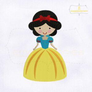 Little Princess Snow White Embroidery Design