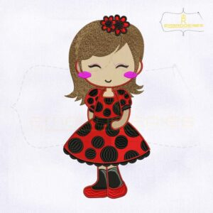 Baby Ladybug Machine Embroidery Design