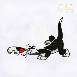 Looney Tunes Sylvester Cat Embroidery Design