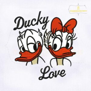 Daisy And Donald Duck Embroidery Design