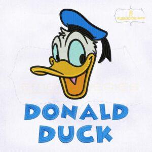 Happy Donald Duck Machine Embroidery Design