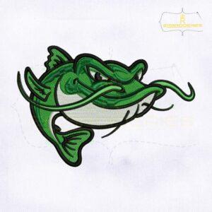 Angry CatFish Machine Embroidery Design