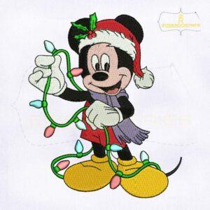 Beautiful Mickey Christmas Embroidery Design