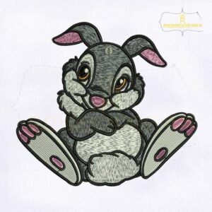 Innocent And Furry Thumper Embroidery Design